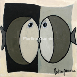 poisson blanc couple boutique martine gonnin. Black Bedroom Furniture Sets. Home Design Ideas